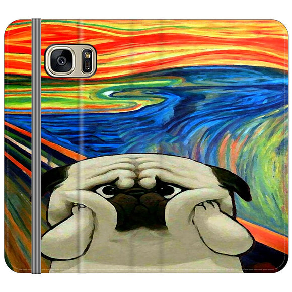 Starry Afternoon Cute Dogs Samsung Galaxy S7 EDGE Flip Case | Frostedcase