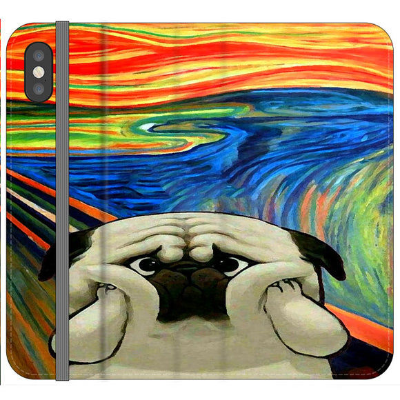 Starry Afternoon Cute Dogs iPhone XS Flip Case | Frostedcase