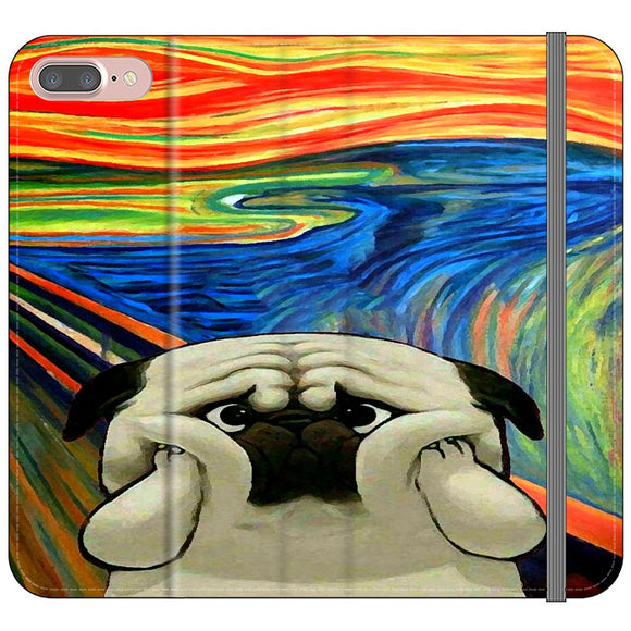 Starry Afternoon Cute Dogs iPhone 7 Plus Flip Case | Frostedcase
