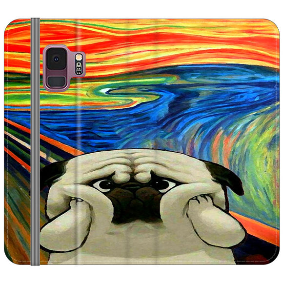Starry Afternoon Cute Dogs Samsung Galaxy S9 Flip Case | Frostedcase