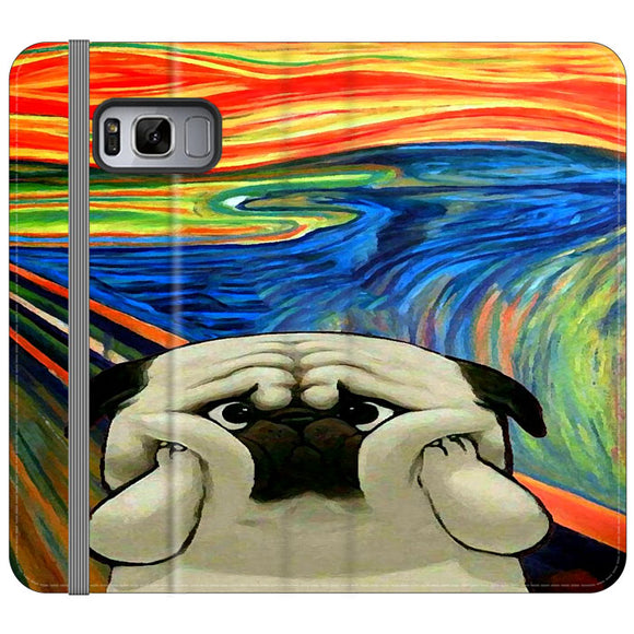 Starry Afternoon Cute Dogs Samsung Galaxy S8 Plus Flip Case | Frostedcase