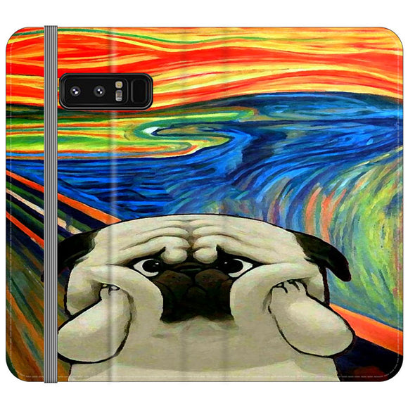 Starry Afternoon Cute Dogs Samsung Galaxy Note 8 Flip Case | Frostedcase