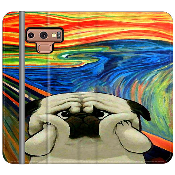 Starry Afternoon Cute Dogs Samsung Galaxy Note 9 Flip Case | Frostedcase