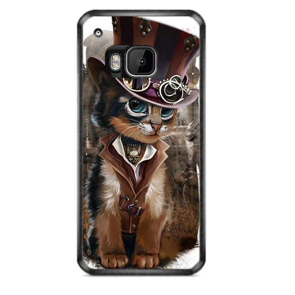 Steampunk Cat HTC ONE M9 Case | Frostedcase