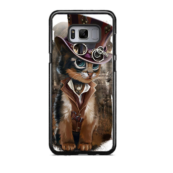 steampunk cat Samsung Galaxy S8 Case | Frostedcase