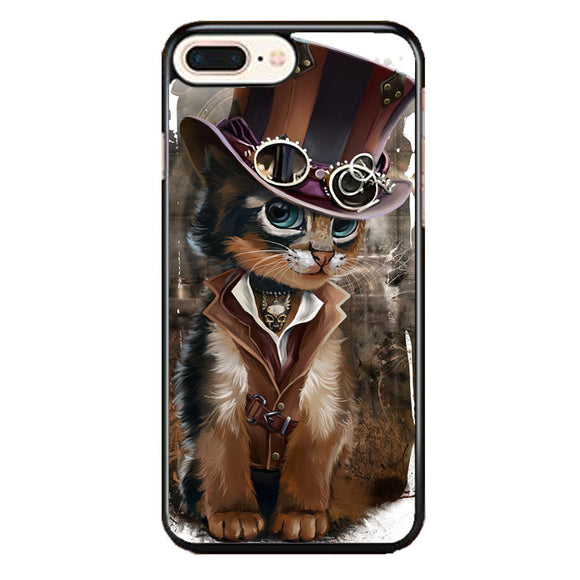 Steampunk Cat iPhone 8 Plus Case | Frostedcase