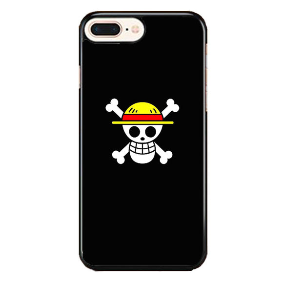 Straw Hat Jolly Roger iPhone 8 Plus Case | Frostedcase