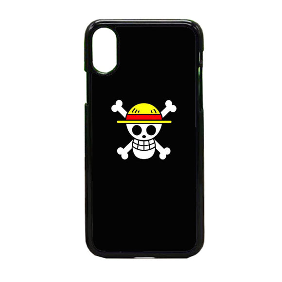 Straw Hat Jolly Roger iPhone X Case | Frostedcase