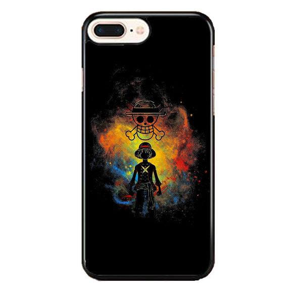 Straw Hat Jolly Roger Monkey D Luffy Art iPhone 8 Plus Case | Frostedcase