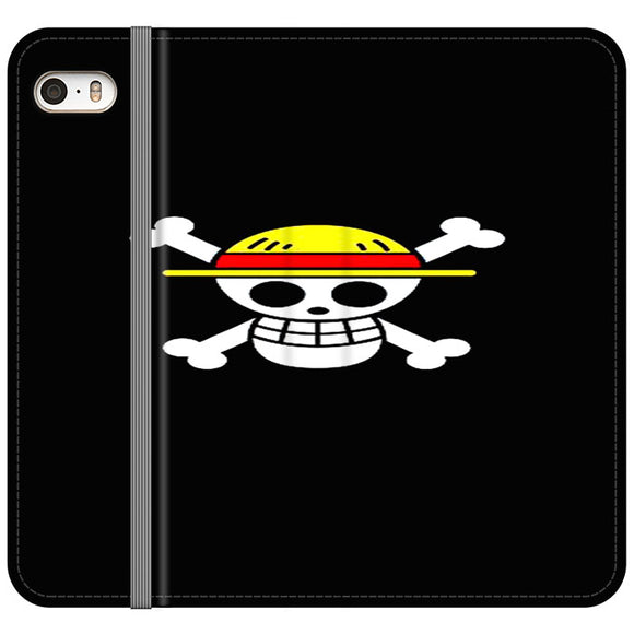 Straw Hat Jolly Roger iPhone 5|5S|SE Flip Case | Frostedcase
