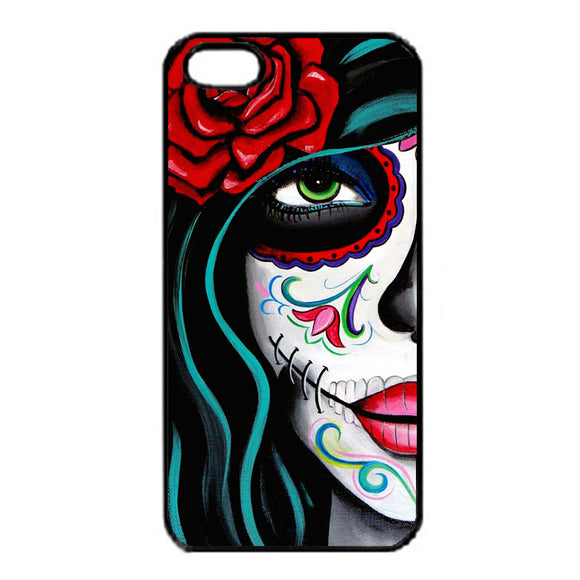 Sugar Skull Acrylic Painting iPhone 5|5S|SE Case | Frostedcase