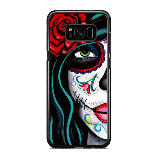 Sugar Skull Acrylic Painting Samsung Galaxy S8 Plus Case | Frostedcase