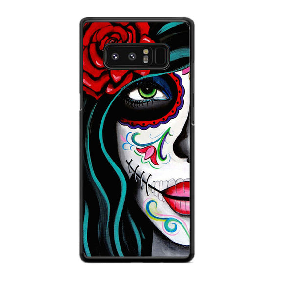 Sugar Skull Acrylic Painting Samsung Galaxy Note 8 Case | Frostedcase