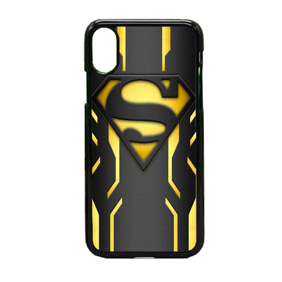 Super Hero Superman Logo Metallic iPhone X Case | Frostedcase