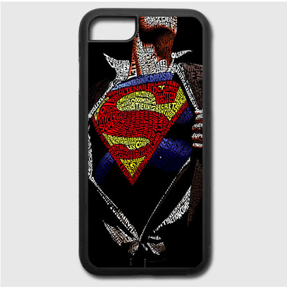 Super Hero Superman Word Ilustrasi iPhone 7 Case | Frostedcase