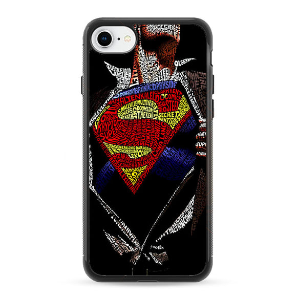 Super Hero Superman Word Ilustrasi iPhone 8 Case | Frostedcase