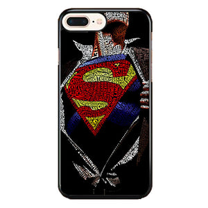 Super Hero Superman Word Ilustrasi iPhone 8 Plus Case | Frostedcase