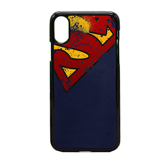Super Herro Superman Blue iPhone X Case | Frostedcase