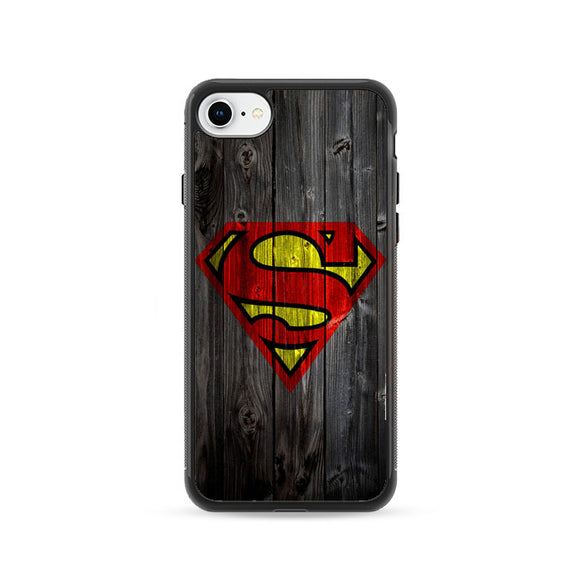 Superman Logo Wood iPhone 8 Case | Frostedcase