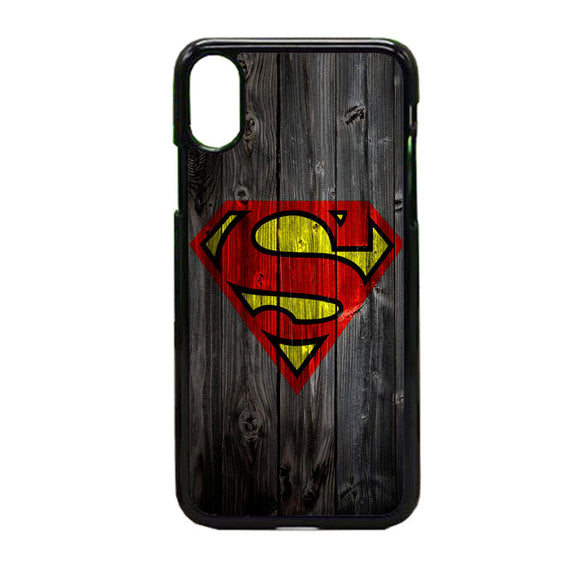Superman Logo Wood iPhone X Case | Frostedcase