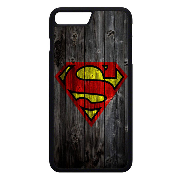 Superman Logo Wood iPhone 7 Plus Case | Frostedcase