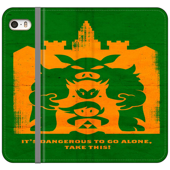 The Legend Of Zelda Dangerous Castle iPhone 5|5S|SE Flip Case | Frostedcase