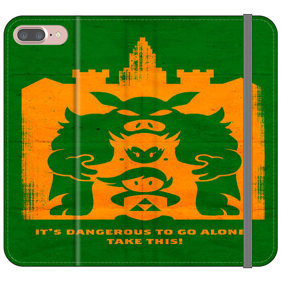 The Legend Of Zelda Dangerous Castle iPhone 8 Plus Flip Case | Frostedcase