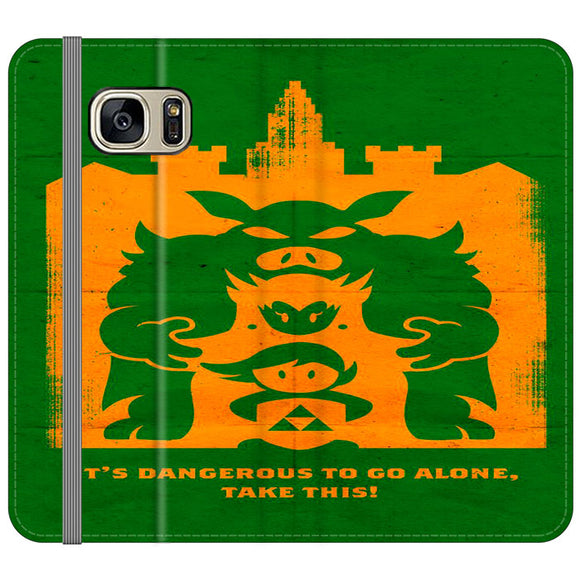 The Legend Of Zelda Dangerous Castle Samsung Galaxy S7 EDGE Flip Case | Frostedcase