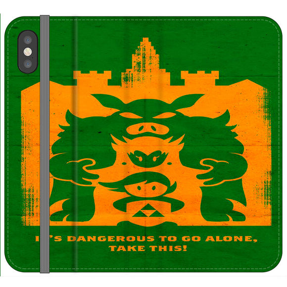 The Legend Of Zelda Dangerous Castle iPhone XS Flip Case | Frostedcase
