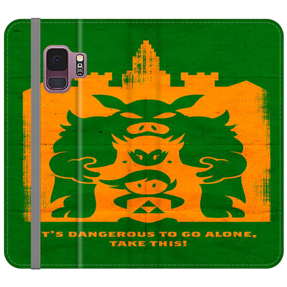 The Legend Of Zelda Dangerous Castle Samsung Galaxy S9 Flip Case | Frostedcase
