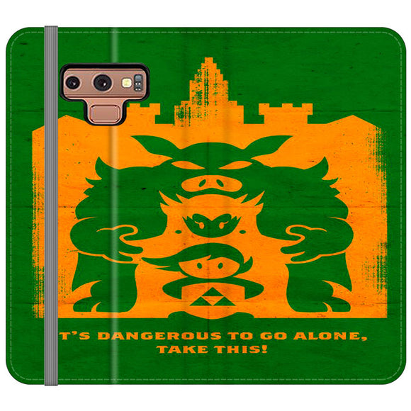 The Legend Of Zelda Dangerous Castle Samsung Galaxy Note 9 Flip Case | Frostedcase