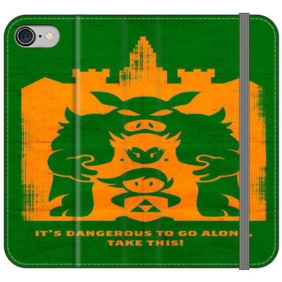 The Legend Of Zelda Dangerous Castle iPhone 8 Flip Case | Frostedcase
