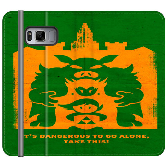 The Legend Of Zelda Dangerous Castle Samsung Galaxy S8 Flip Case | Frostedcase