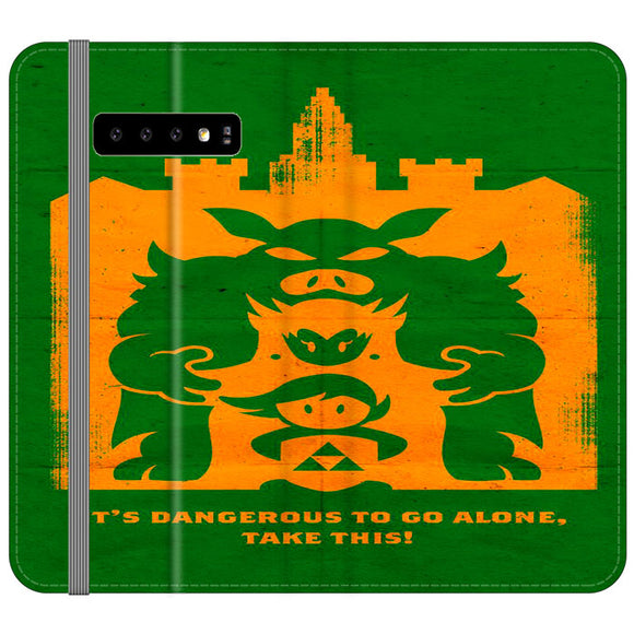 The Legend Of Zelda Dangerous Castle Samsung Galaxy S10 Plus Flip Case | Frostedcase