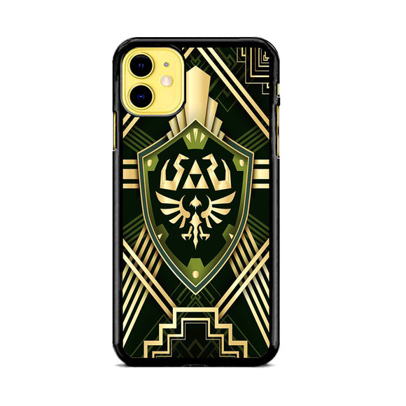 The Legend Of Zelda Shield Green Gold iPhone 11 Case | Frostedcase