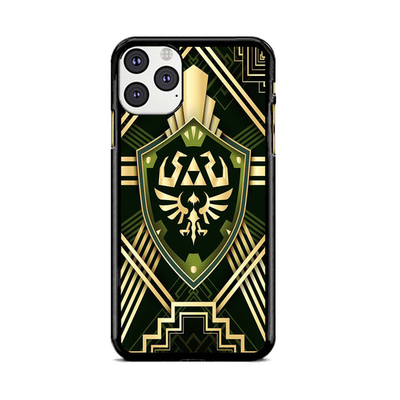 The Legend Of Zelda Shield Green Gold iPhone 11 Pro Case | Frostedcase