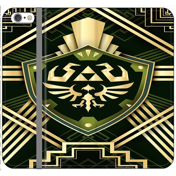 The Legend Of Zelda Shield Green Gold iPhone 6|6S Flip Case | Frostedcase