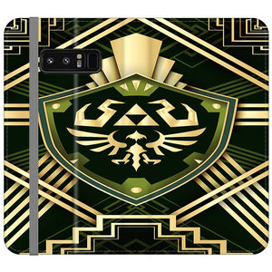 The Legend Of Zelda Shield Green Gold Samsung Galaxy Note 8 Flip Case | Frostedcase