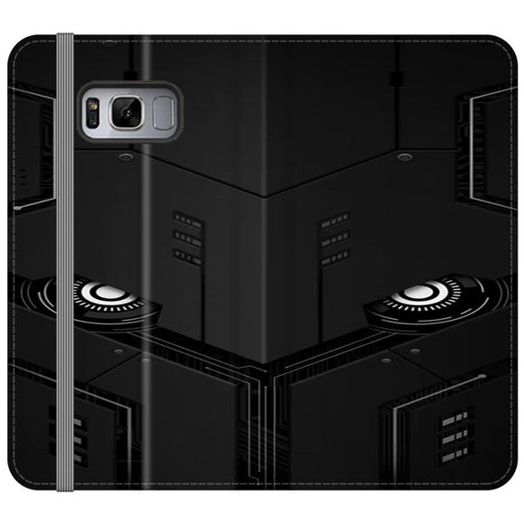 The Texture Robot Samsung Galaxy S8 Flip Case | Frostedcase