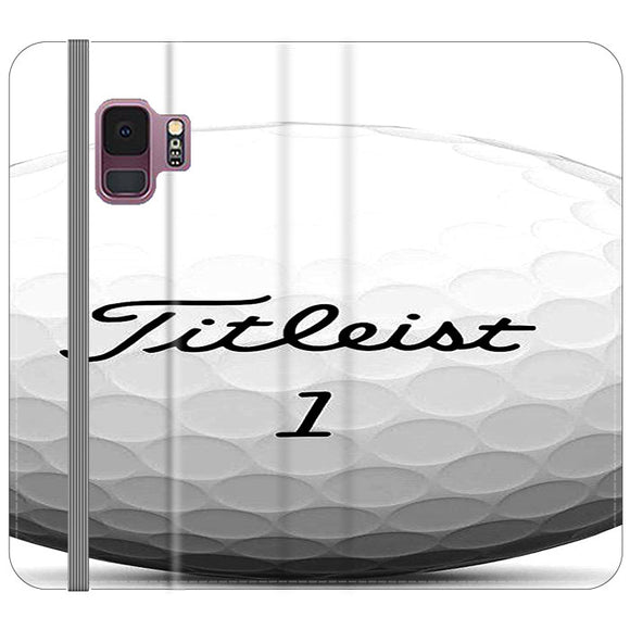 Titleist Ball Samsung Galaxy S9 Flip Case | Frostedcase