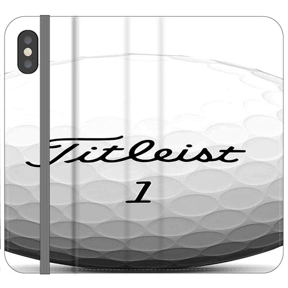 Titleist Ball iPhone X Flip Case | Frostedcase