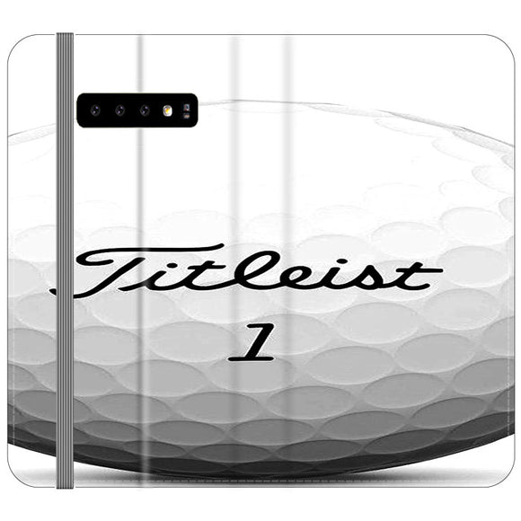 Titleist Ball Samsung Galaxy S10 Plus Flip Case | Frostedcase
