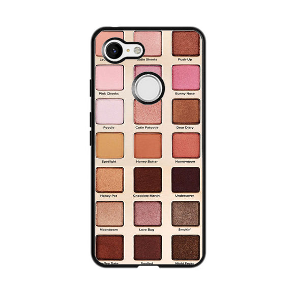 Too Faced Natural Love Eyeshadow Palette Google Pixel 3 Case | Frostedcase