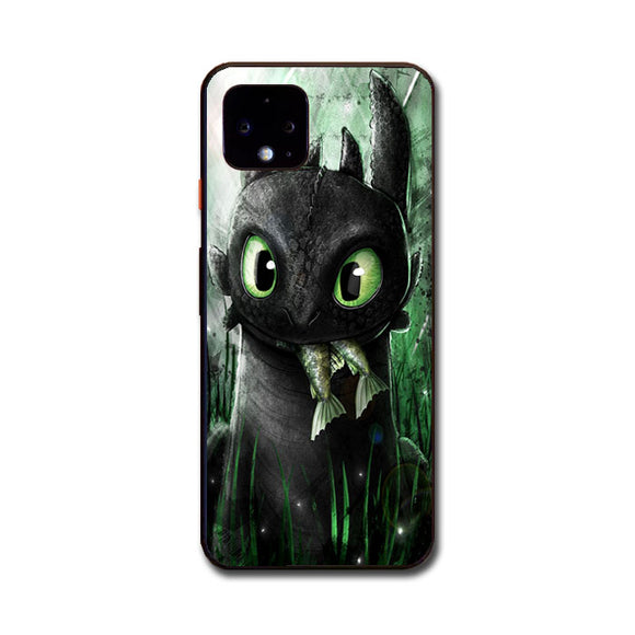 Toothless Eat Fish Google Pixel 4 Case | Frostedcase