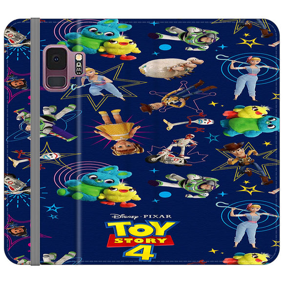 Toy Story 4 Doodle Blue Samsung Galaxy S9 Flip Case | Frostedcase