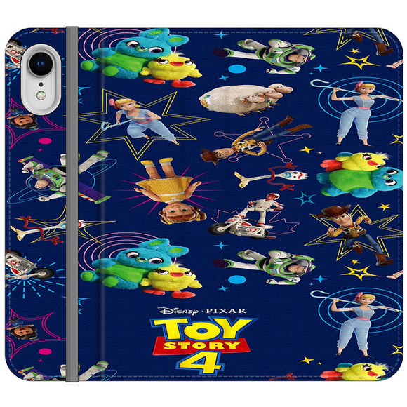 Toy Story 4 Doodle Blue iPhone XR Flip Case | Frostedcase