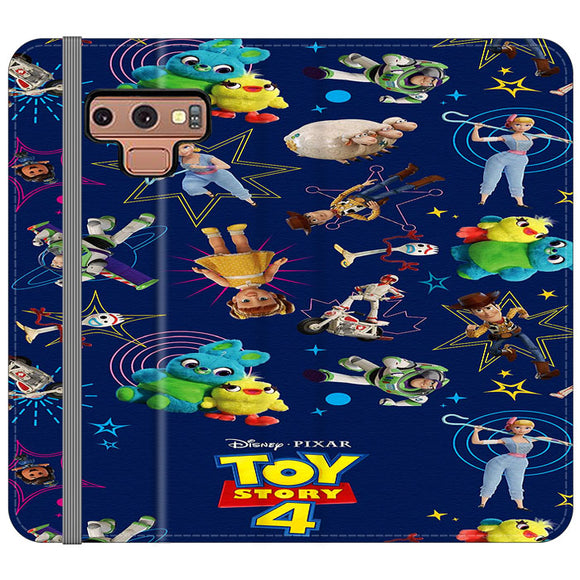 Toy Story 4 Doodle Blue Samsung Galaxy Note 9 Flip Case | Frostedcase
