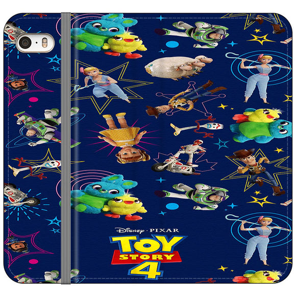 Toy Story 4 Doodle Blue iPhone 5|5S|SE Flip Case | Frostedcase