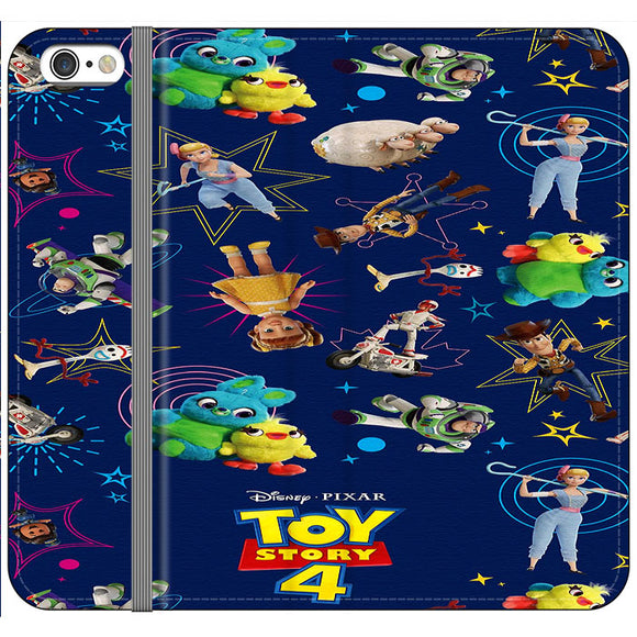 Toy Story 4 Doodle Blue iPhone 6 Plus|6S Plus Flip Case | Frostedcase