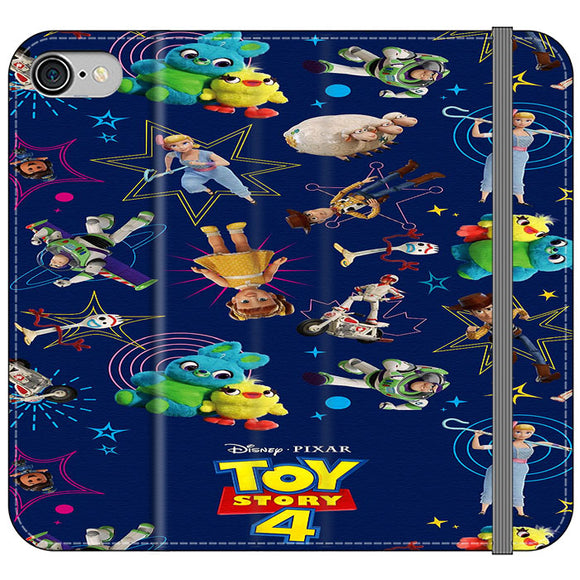 Toy Story 4 Doodle Blue iPhone 7 Flip Case | Frostedcase